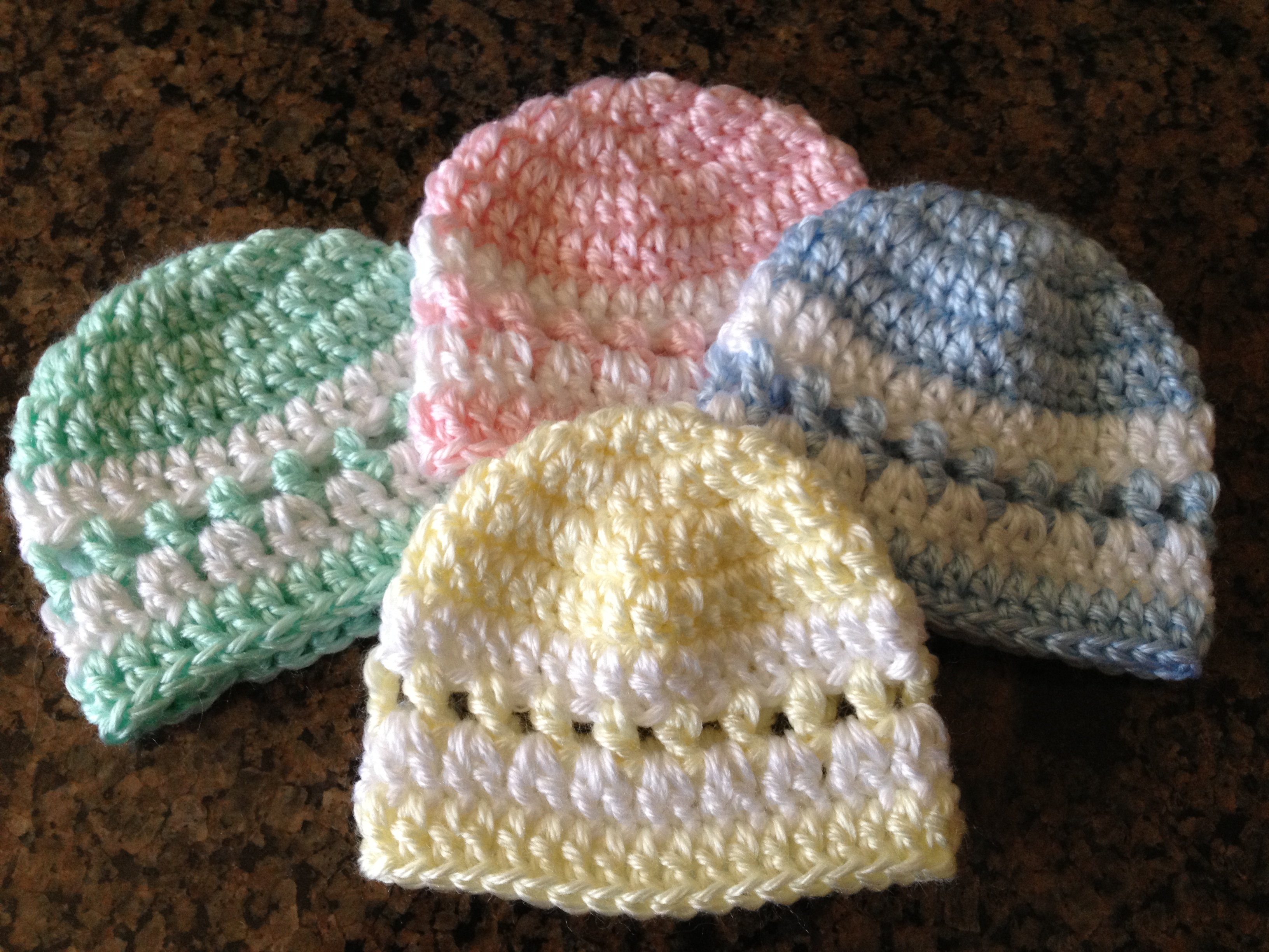 Free Crochet Pattern Preemie Cap : beanie Sheepishly Sharing