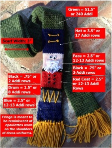 Nutcracker Scarf Measurements
