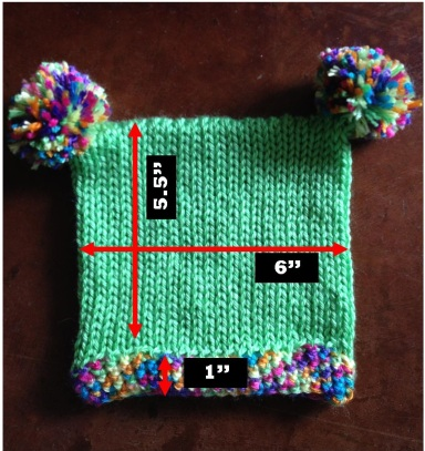 Square Baby Hat Measurements
