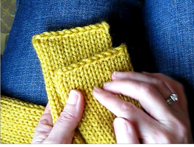 Tutorial Getting Clean Straight Edges On A Knitted Tube Scarf